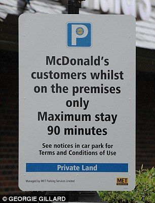 A close-up of the sign: We revealed how the rogue firms are making tens of millions of pounds from fines handed out to motorists who overstay